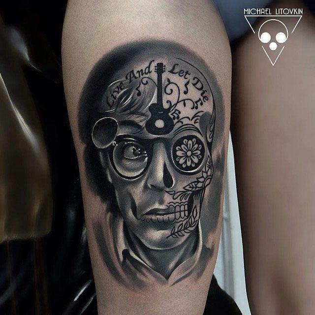 thgh tattoo lenon