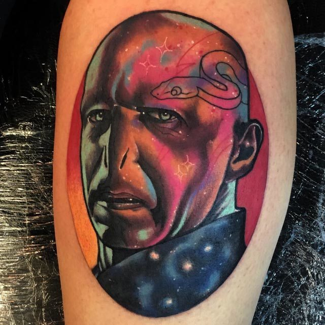 cosmic Lord Voldemort tattoo