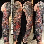 full arm tattoo sleeve mental