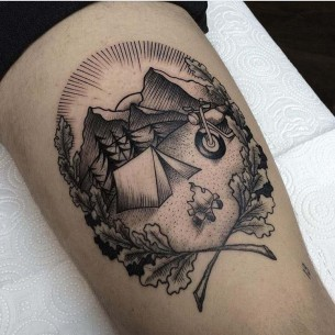 Mountain Camp Tattoo