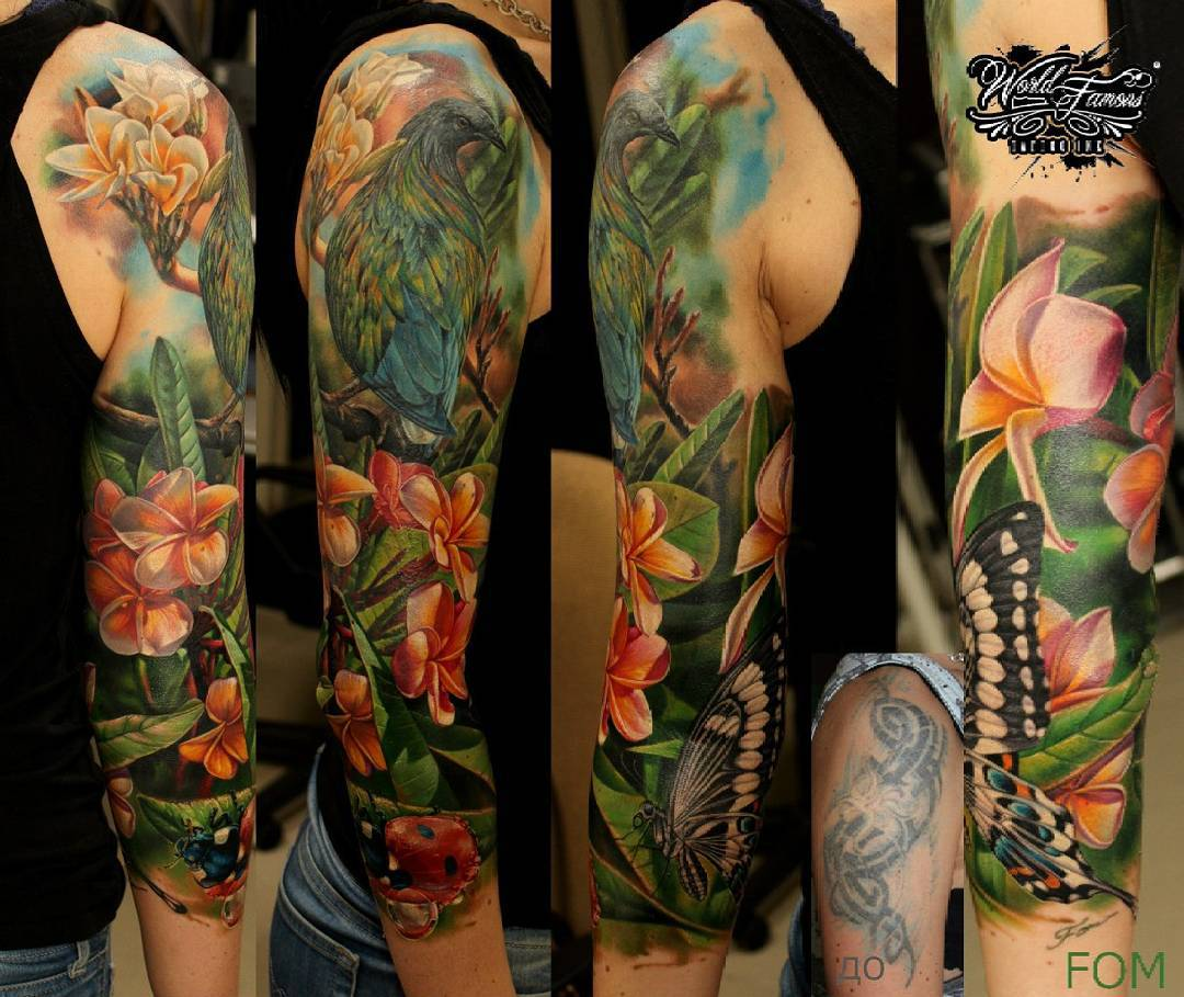 Tattoo sleeve of nature