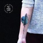 Nothern Light Tree Tattoo