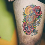 Phonograph Tattoo Neo-Traditional
