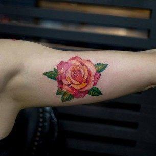 51 Real Pink Rose Tattoos