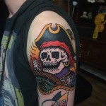 Pirate Skeleton Tattoo