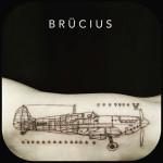 schematic plane tattoo on arm
