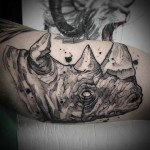 Rhino Tattoo on Bicep