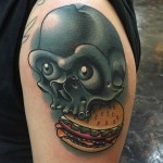 Skull Burger Tattoo