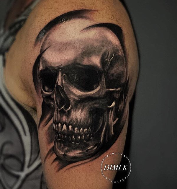 Skull shoulder tattoo designs best tattoo ideas gallery for Tattoo design in shoulder