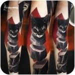 Three Parts Cat Tattoo