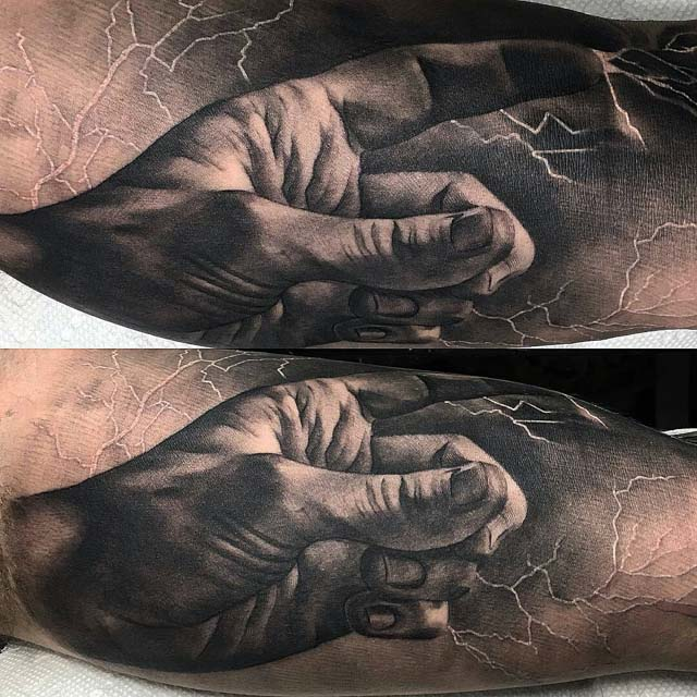 Zeus hand tattoo