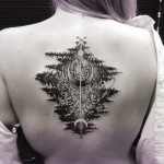 Reflection Chrysanthemum Tattoo