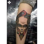 UFO Tattoo on Arm
