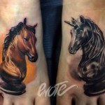 Unicorn Knight Chess Tattoos