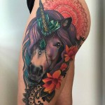 Unicorn Tattoo on hip