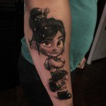 Vanellope Tattoo on Arm