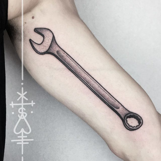 arm tool wrench tattoo