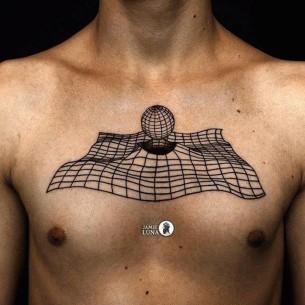 3D Chest Tattoo