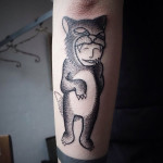 Animal Costume Dotwork Tattoo