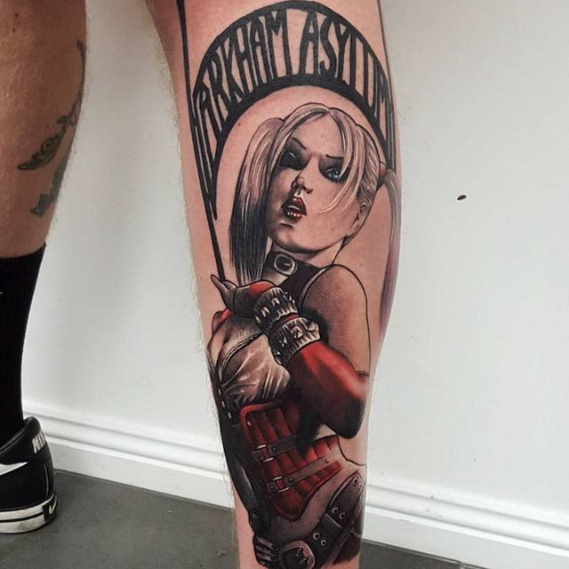 girl asylum tattoo batman