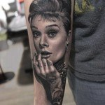 Audrey Hepburn Portrait Tattoo