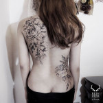 Back Flower Tattoos
