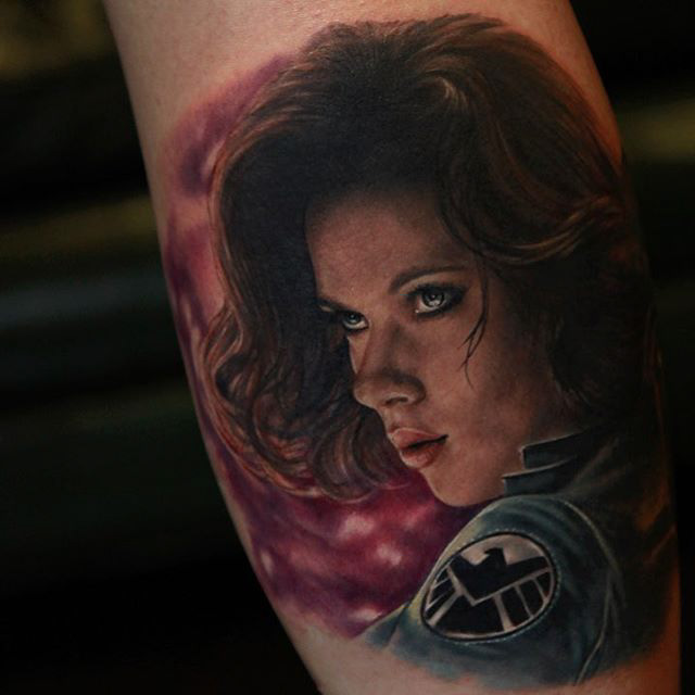 avengers tattoo black widow