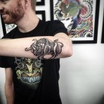Bucking Bull Tattoo