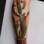 Cactus Castle Tattoo