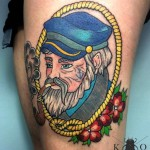 Captain Portrait Nautical Tattoo