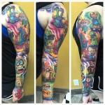 Cartoon Tattoo Sleeve
