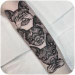 Don't Hear See Speak Cats Tattoo