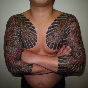 Dragon Tattoo Sleeves