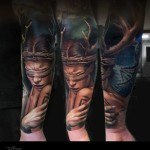 Druid Girl Forearm Sleeve Tattoo