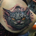 Evil Cheshire Cat Tattoo