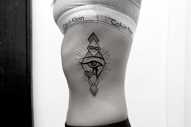 Horus eye tattoo