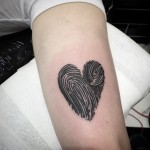 Fingerprints Heart Tattoo