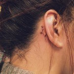 Flower Tattoo Behind Ear