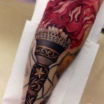 Forearm Torch Tattoo