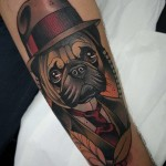 Gentleman Pug Tattoo