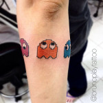pacman ghosts tattoo