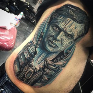 Hans Giger Tribute Tattoo
