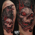 Hell Raven Tattoo