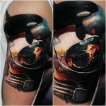 Killer Whale Astronaut Space Tattoo