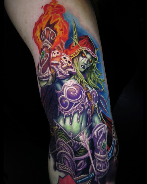 Sylvanas Tattoo WOW