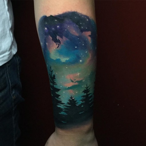 night sky tattoo best tattoo ideas gallery