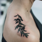 top shoulder olive tattoo