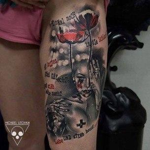 Poppies Girl Trash Polka Tattoo