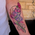 Purple FLowers Tattoo
