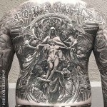Religious Back Tattoo